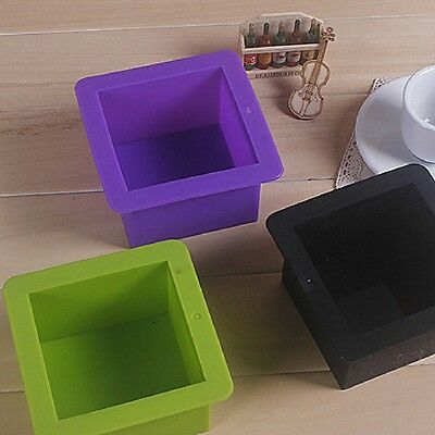 Silicone Square Toast Mould Cake Muffin Loaf Baking Pan Soap Mold Bakeware Tool