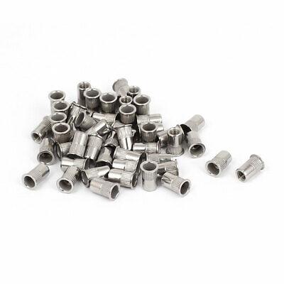 50pcs M4x10mm Stainless Steel Threaded Blind Rivet Nuts Insert Nutserts
