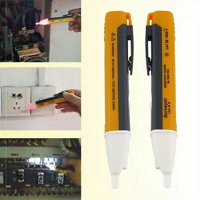 LED Light AC Electric Voltage Tester Volt Alert Pen Detector Sensor 90~1000V MA