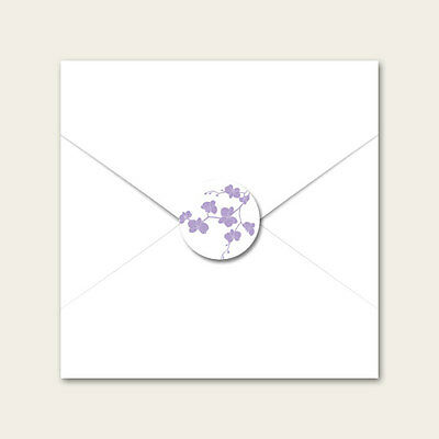 Delicate Orchid - Wedding Envelope Seals - Pack of 70