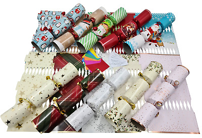 make your own Christmas cracker kits /makes 6 crackers / hats / snaps / jokes