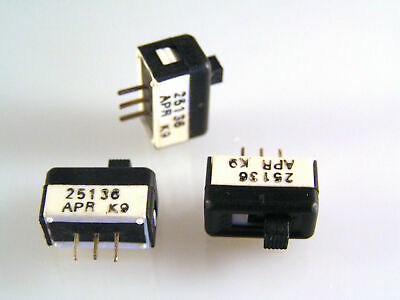 Slide Switch Single Pole Changeover On/On 3 Pieces OM0548D