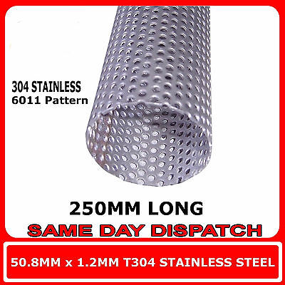 "Exhaust Repair Tube Stainless Steel Perforated Pipe 51Mm 2"" X 500Mm Heavy Duty"