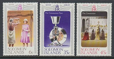 Solomon Islands 1977 ** Mi.331/33 Silver Jubilee Regentschaft Queen [sq6087]