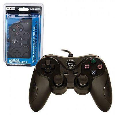 PS2 Shock Controller for Sony PlayStation 2 Dual Vibration Gamepad New Black