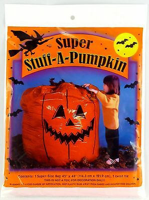 Big Super Stuff a Pumpkin Yard Indoor / Outdoor bag 45inx48in Halloween Decor