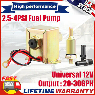 12V Low Pressure Universal Electric Fuel Pump Metal for Petrol&Diesel 2.5-4PSI
