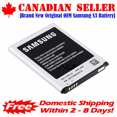 Original OEM Samsung Galaxy S3 Battery with NFC - i9300 i535 EB-L1G6LLU 2100mAh