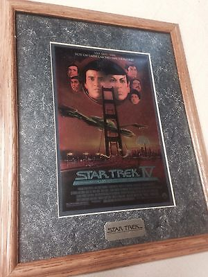 Star Trek IV THE VOYAGE HOME Chromium Special Collectors Edition Print With Fram