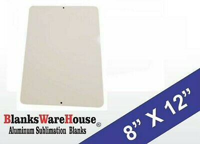 75 Pieces of PARKING SIGN WHITE ALUMINUM SUBLIMATION BLANKS 8 x 12 w/ HOLES