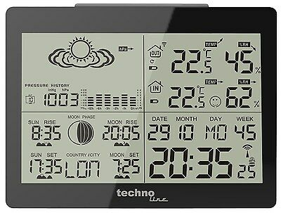 Technoline WS 6760 Digital Wireless Weather Station Thermometer Alarm Remote LCD