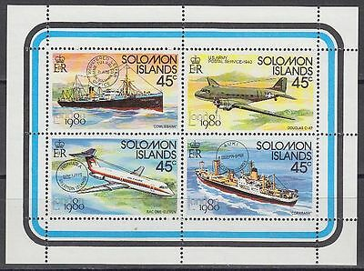 Solomon Islands 1980 ** Mi.413/16 Flugzeuge Aircraft Schiffe Ships [sq6125]