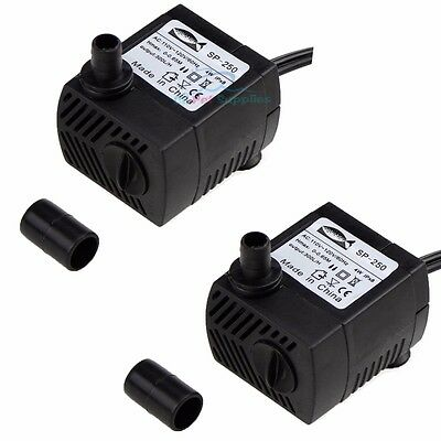 Fish & Aquariums 2x 90 Gph Submersible Pump Aquarium Powerhead Fountain Water Hydroponic