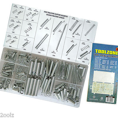 Spring Set / Extended Compression Expansion Tension Springs 200 Piece