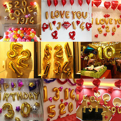 Numbers Balloons Foil Balloon Birthday New Year Party Wedding Decoration Home