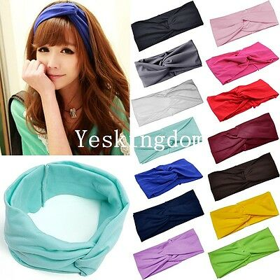 New Women Turban Twist Knot Head Wrap Headband Twisted Knotted Hair Band