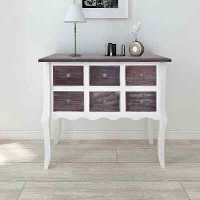 NEW Console Cabinet 6 Drawers White Wood Cupboard Storage Cabinet High-quality