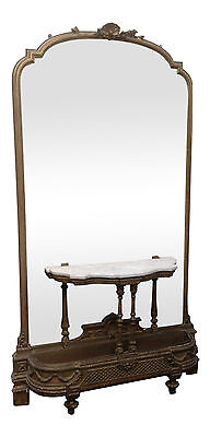 Extremely Large 19th Century Gilt Mirror & Console Table