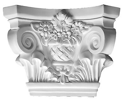 Designed Capital top for Pilaster or column Primed White millwork molding D715A