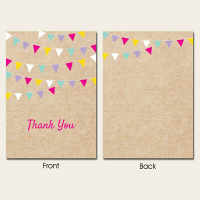 Thank You Cards - Vintage Party Bunting - Pack of 10