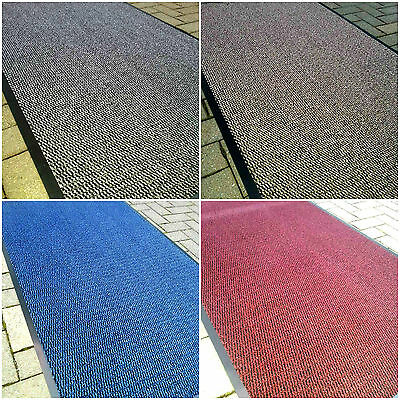 Heavy Duty Barrier Mat Non Slip Rubber Large & Small Rugs Back Door Kitchen Hall
