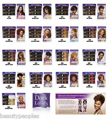 Dark and Lovely Permanent Hair Colours Dye All Colours