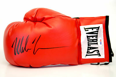 *New* Mike Tyson Signed Red Everlast Boxing Glove. PSA / DNA
