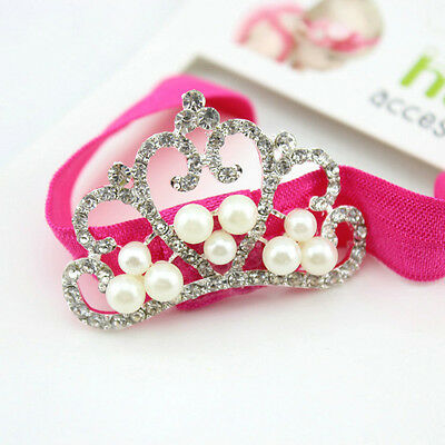 Lovely Baby Kids Infant Toddler Girl Princess Crown Pearl Headband Hair Band