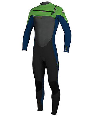 O'Neill Superfreak Boys 5/4mm Wetsuit (2016) in Black & Green - On Sale Now