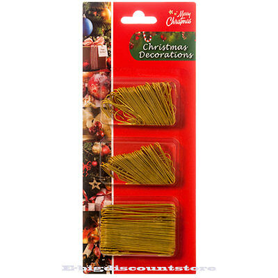 300 GOLD Christmas Ornament tree Hook Decoration Hanger Wire Large Small BLISTER