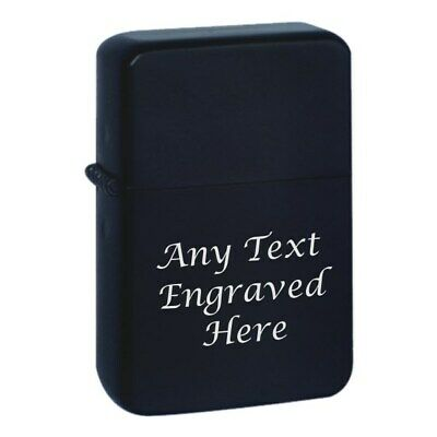 Black Personalised Star Engraved Lighter In Gift Tin