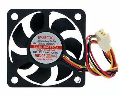 Evercool EC12025M12CA 120mm x 25mm 12v Ball Bearing Cooling Fan med speed 3 pin