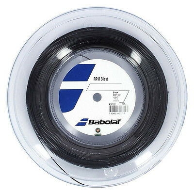Babolat Rpm  Blast Tennis String - 1.25Mm 17G - 200M Reel  - Black - Rrp £180