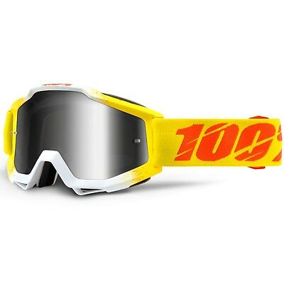 100% Percent NEW Mx Accuri Zest Silver Tinted Lens Motocross Dirt Bike Goggles