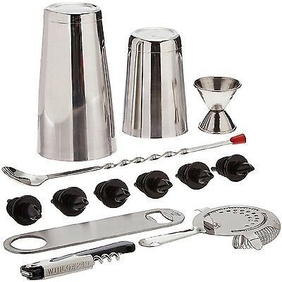 Bartender Set Tools 13pc Stainless Steel Bar Drink Mixer Shaker Cocktail Martini