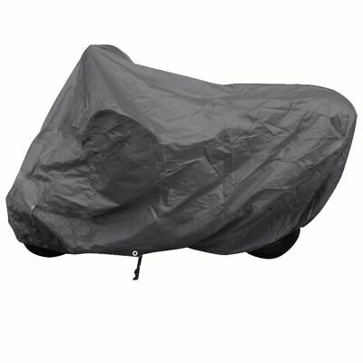 New Motorcycle Cover Black Polyester Double-Stitched Rain Dust Cover Waterproof