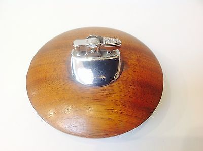 Vintage Ronson Wooden Base Table Lighter - Very Collectable!
