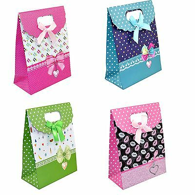 1Pcs X Mini Christmas Gift Bags Strong Paper Bags For Xmas