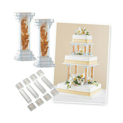 Wilton Fillable Pillar Set, Pack of 4, Wedding Cake Decoration, 6 inch