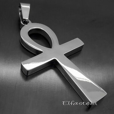 Ancient Ankh Cross Egyptian Symbol Of Life 316L Stainless Steel Pendant
