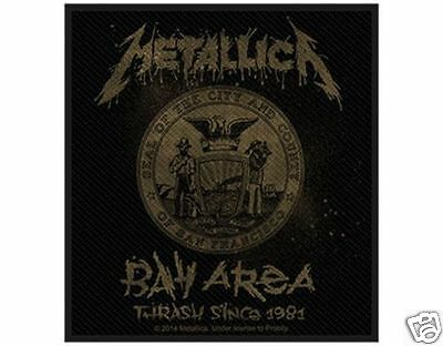 metallica - Bay Area  - WOVEN  PATCH - free shipping