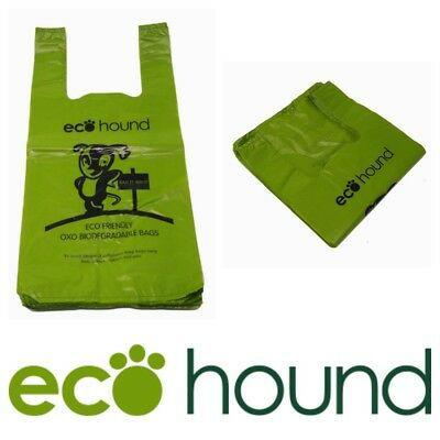 NEW Ecohound Biodegradable Vest Type Dog Poo Bags Large Unscented Poop Bags