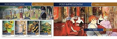 Z08 MLD15-1005ab MALDIVES 2015 Post-Impressionism Art Paintings Postfrisch MNH S