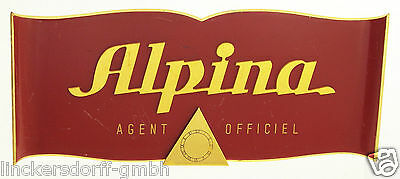 ALPINA OFFICIAL AGENT SCHILD / SIGN - SHOP DISPLAY FÜR KONZESSIONÄRE - 1950er