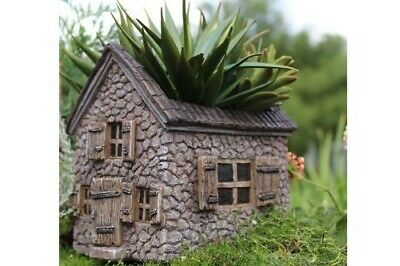 Miniature Dollhouse FAIRY GARDEN - Mill House Planter - Accessories
