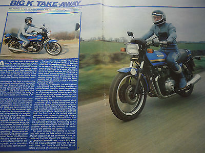 Kawasaki Z 750 L3 # Original Vintage Motorcycle Road Test # 4 Pages #