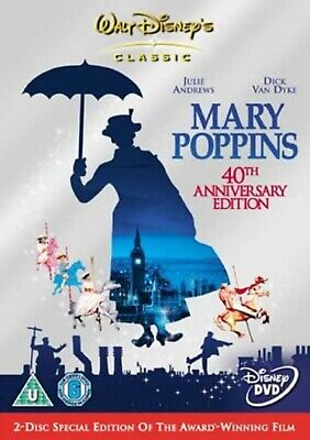 MARY POPPINS PART1 DVD 2 DISC SET JULIE ANDREWS Original New R2 Movie Film UK