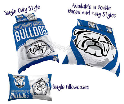Canterbury Bulldogs 2018 NRL Quilt Cover Doona Pillowcase All Sizes Available