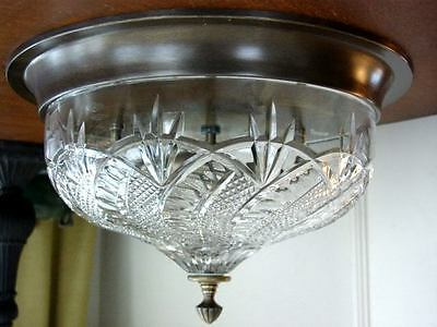Waterford Crystal SEAHORSE Flush Mount Ceiling Fixture Light Lamp - NEW / BOX!