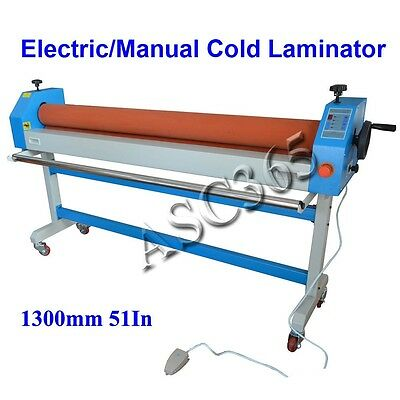 New 51In 1300MM Electric Manual Automatic Cold Laminating Machine US Seller